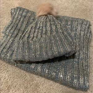 Chloe and Isabel Grey Hat and Scarf set